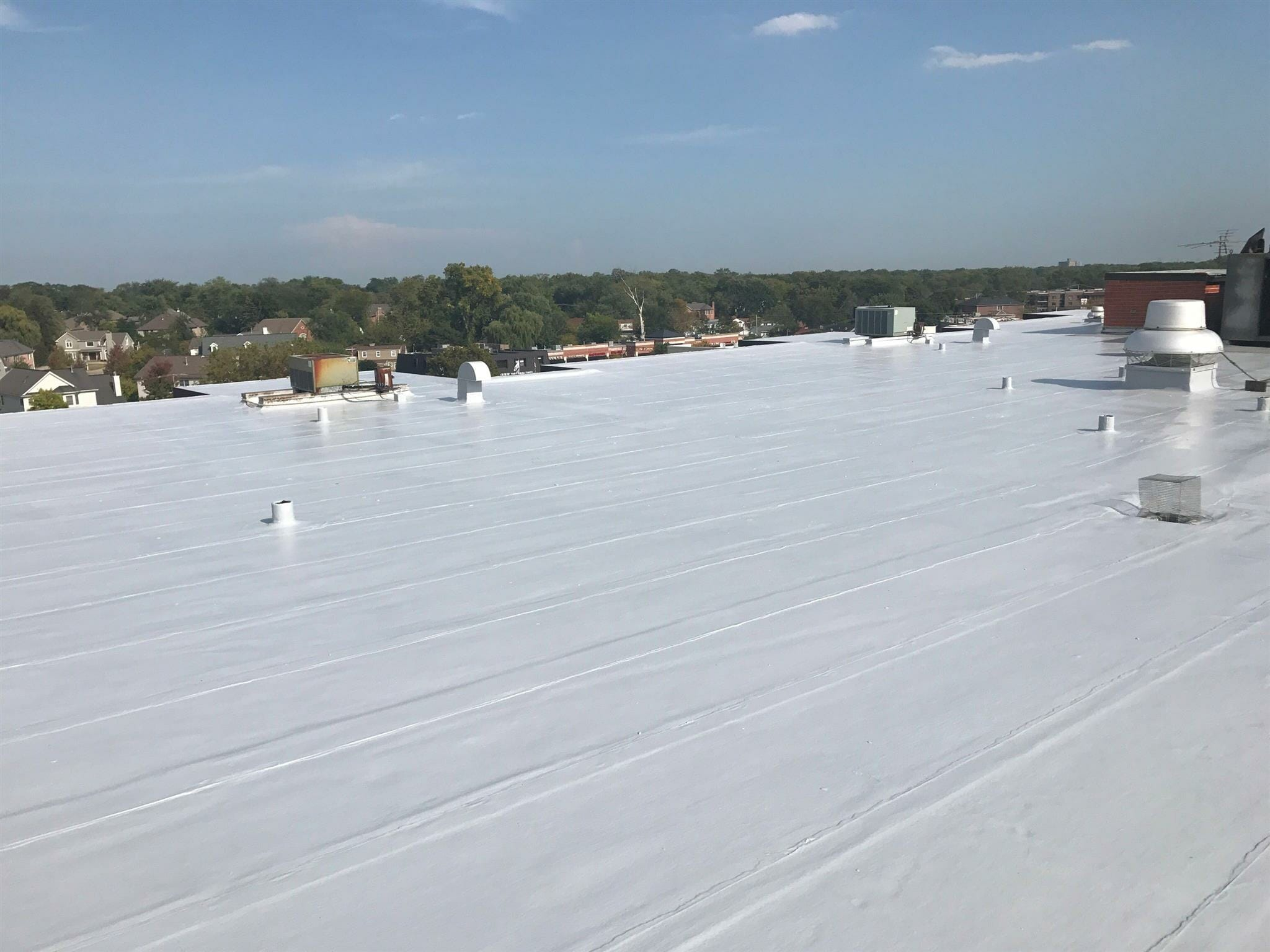 Gaco Roof Sealant And Repair Project In Glenview IL