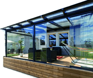 Outdoor Retractable Glass