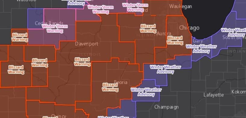 Blizzard Warning Now Includes Northern IL