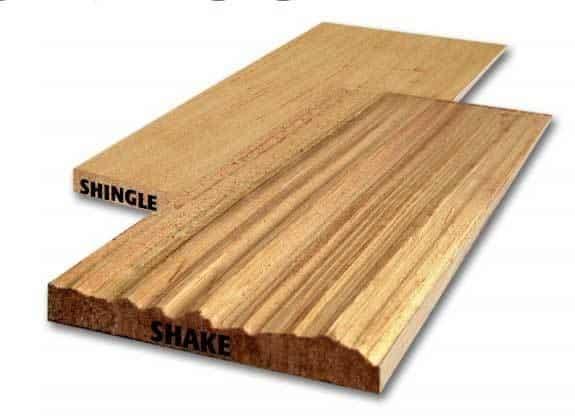 Cedar shingle vs shake